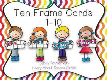 Ten Frame Cards 1-10 *Freebie*
