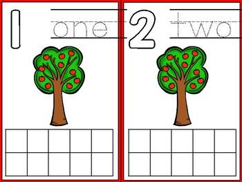 Ten Frame Cards - Apple Tree