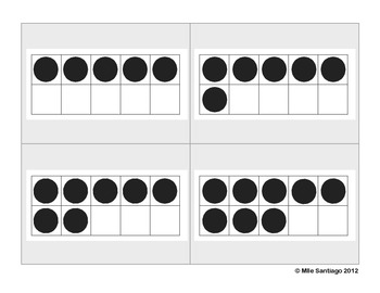 Ten Frame Cards - Black