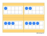 Ten Frame Cards - Blue & Red