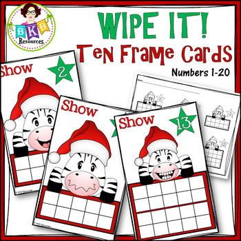 Ten Frame Activities ● Christmas Ten Frame Cards ● Number Cards 1-20
