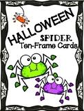 Halloween Ten Frame Cards: Spiders