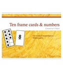 Ten Frame Cards & Numbers 0-10 Cards