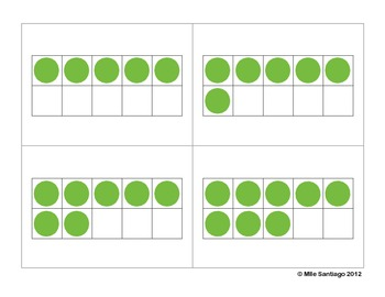 Ten Frame Cards - Orange & Green