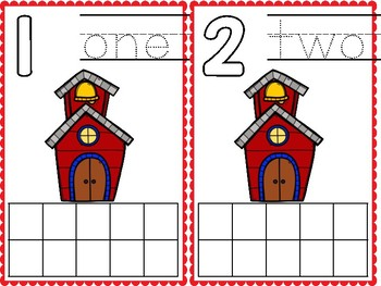 Ten Frame Cards - School