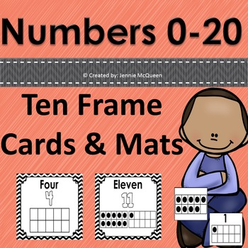 Ten Frame Cards and Mats: #s 0-20!
