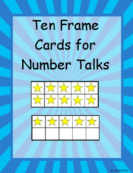 Ten Frame Cards for Number Talks and Assessment