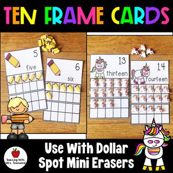Ten Frame Cards for Mini Erasers