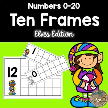 Ten Frame Center for Kindergarten and First Grade {Elves Edition}
