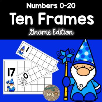 Ten Frame Center for Kindergarten and First Grade {Gnome Edition}