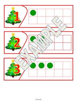 Ten Frame - Christmas Themed