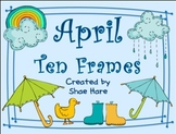 Ten Frame Clip Art *April* 0-10 {rain cloud boot umbrella} Common Core Math