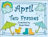 Ten Frame Clip Art *April* 0-10 {rain cloud boot umbrella} Common Core Math