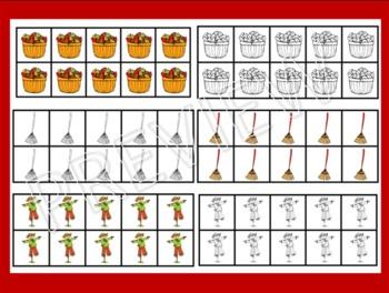 Ten Frame Clip Art {Autumn} 0-10 Common Core Math Aid - Fall September Leaf