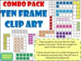 Ten Frame Clip Art **COMBO PACK!** 0-10 - Common Core Math Aid