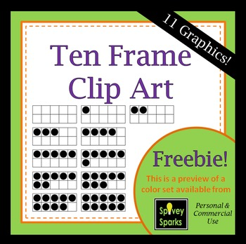 Ten Frame Clip Art  Freebie for Commercial Use
