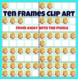 Ten Frame Clip Art, 11 Different Themes, Over 100 Color Images & 100 BW