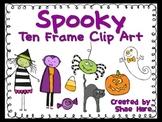 Ten Frame Clip Art {Spooky} 0-10 Common Core Math Aid - Halloween October