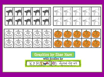Ten Frame Clip Art {Spooky} 0-10 Common Core Math Aid - Halloween October