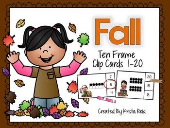 Ten Frame Clip Cards