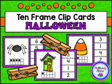 Ten Frame Clip Cards: Halloween (Numbers 1-20)