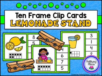 Ten Frame Clip Cards: Lemonade Stand (Numbers 1-20)