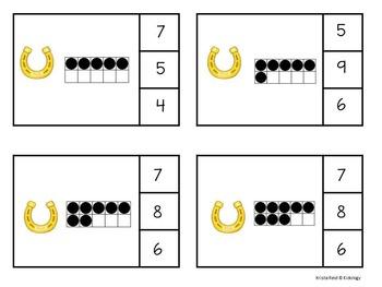 Ten Frame Clip Cards - Math Center, Game, Activity