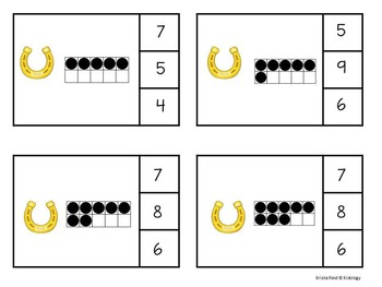 Ten Frame Clip Cards - Math Center, Game, Activity