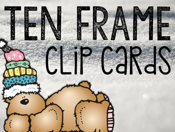 Ten Frame Clip Cards: Winter Edition