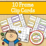 Ten Frame Clip Cards and Task Cards  - 1 to 20 - Autumn Le