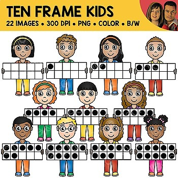 Ten Frame Kids Clipart