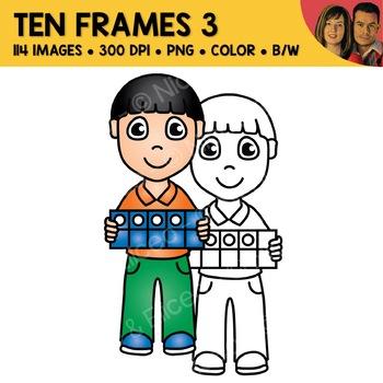 Digital Graphics - Ten Frame Clipart 2
