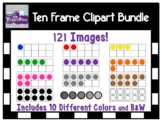 Ten Frame Clipart Graphics | Primary Colors | 121 Images |