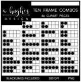 Ten Frame Combos Clipart {A Hughes Design}