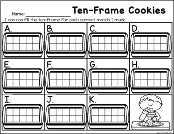 Ten-Frame Cookies - Ten Frame Identification
