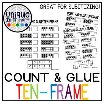 Count and Glue Ten Frame