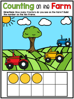 Kindergarten Math Number Sense Digital Worksheets Ten Frame Counting to 10