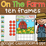 Ten Frame Counting 1-10 Digital Activity for Google Classr