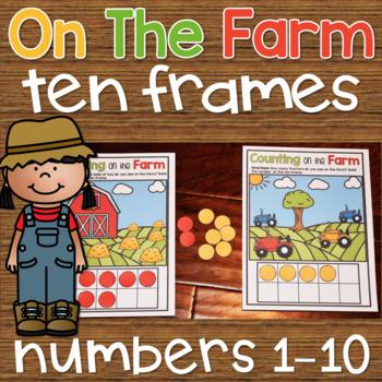 Ten Frame Counting Worksheets 1-10 Kindergarten Number Sense Activity