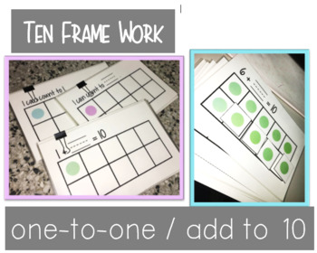 Ten Frame Counting - Add to 10, One-to-one