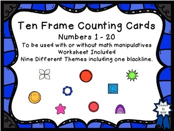 Ten Frame Counting Cards #0 - 20 BIG BUNDLE