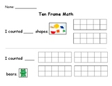 Ten Frame Counting Collections