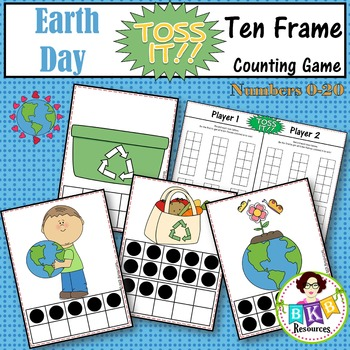 Ten Frame Counting Game - Earth Day Toss It! Card Game