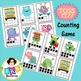 Ten Frame Counting Game - Monster Themed Toss It! Card Game