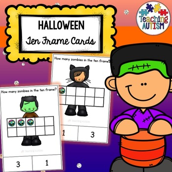 Ten Frame Counting Task Cards Halloween