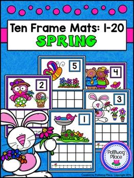 Ten Frame Counting Mats: 1-20 - Spring