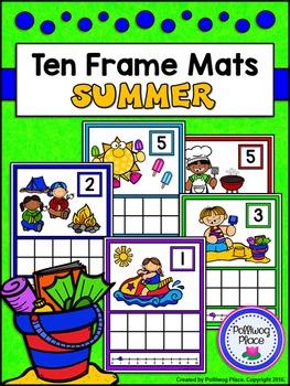 Ten Frame Counting Mats: 1-20 - Summer