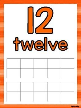 Ten-Frame Counting Mats 11-20