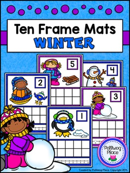 Ten Frame Counting Mats - Winter