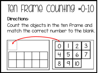 Ten Frame Counting Task Boxes